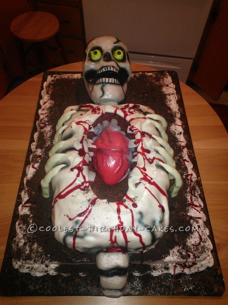Skeletons Cakes Cool Birthday Cake Ideas skeleton party