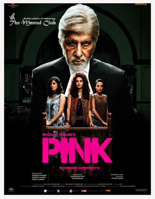 Pink 2016 Hindi 400MB DVDScr 480p | Pink full movie, Pink movies, Pink  hindi movie