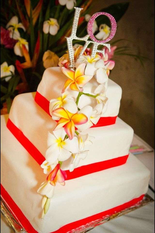 Tropical Wedding Cake Coral Theme For A Wedding Cake Guide