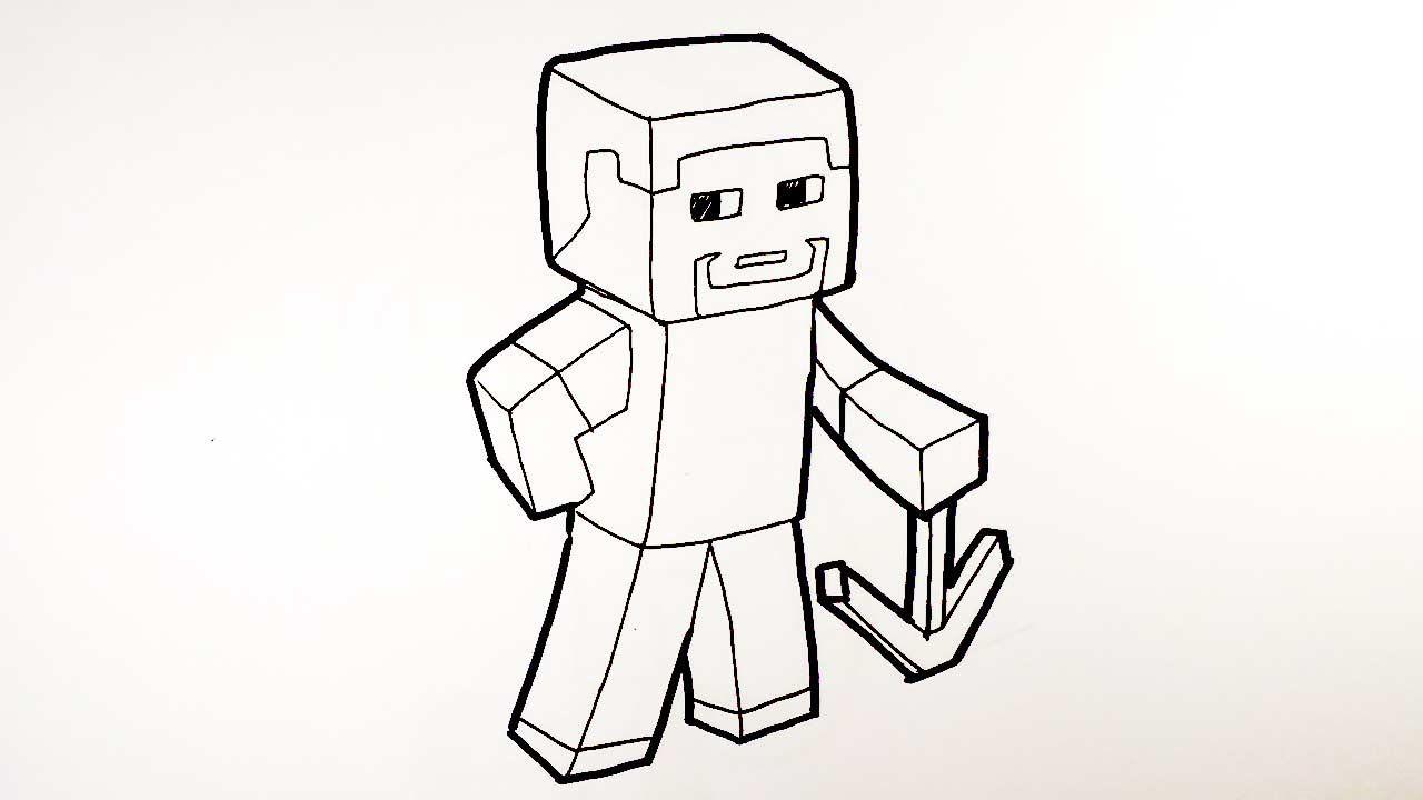 สต ฟ Steve จาก มายคราฟท Minecraft วาดการ ต น ก นเถอะ อะน เมะ