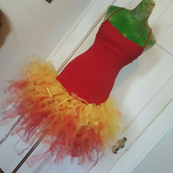 Fire tutu rave dress by IM.BUTTERFLYCREATIONS This dress