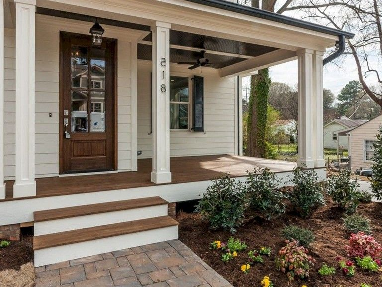40 beautiful farmhouse front porch decorating ideas in