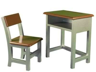 Classic Style Wooden Student Desk U0026 Chair Set Perfectly Sized For 18 Inch  American Girl Doll. Shelf To Store School Accessories,supplies, U0026 Stuff  Laurent ...
