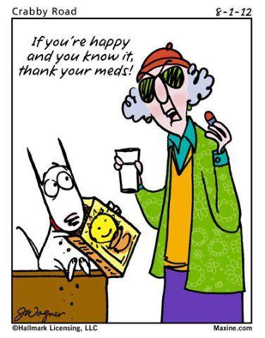 Good Morning Ladies Maxine Talking Humor Funny Cartoons Bones Funny