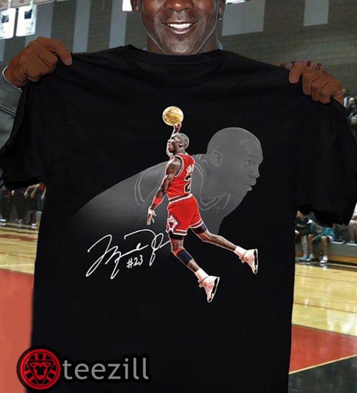 Nba Michael Jordan 23 Signature Shirt Teezill Michael Jordan Shirts Michael Jordan Shirts