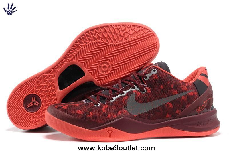 100% authentic 48b41 69092 555035-661 Burgundy Nike Zoom Kobe 8 VIII Outlet Store