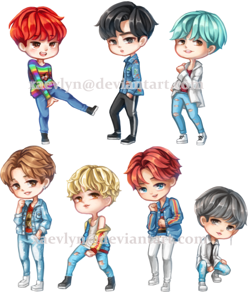 Bts Dna Chibi Drawings Easy