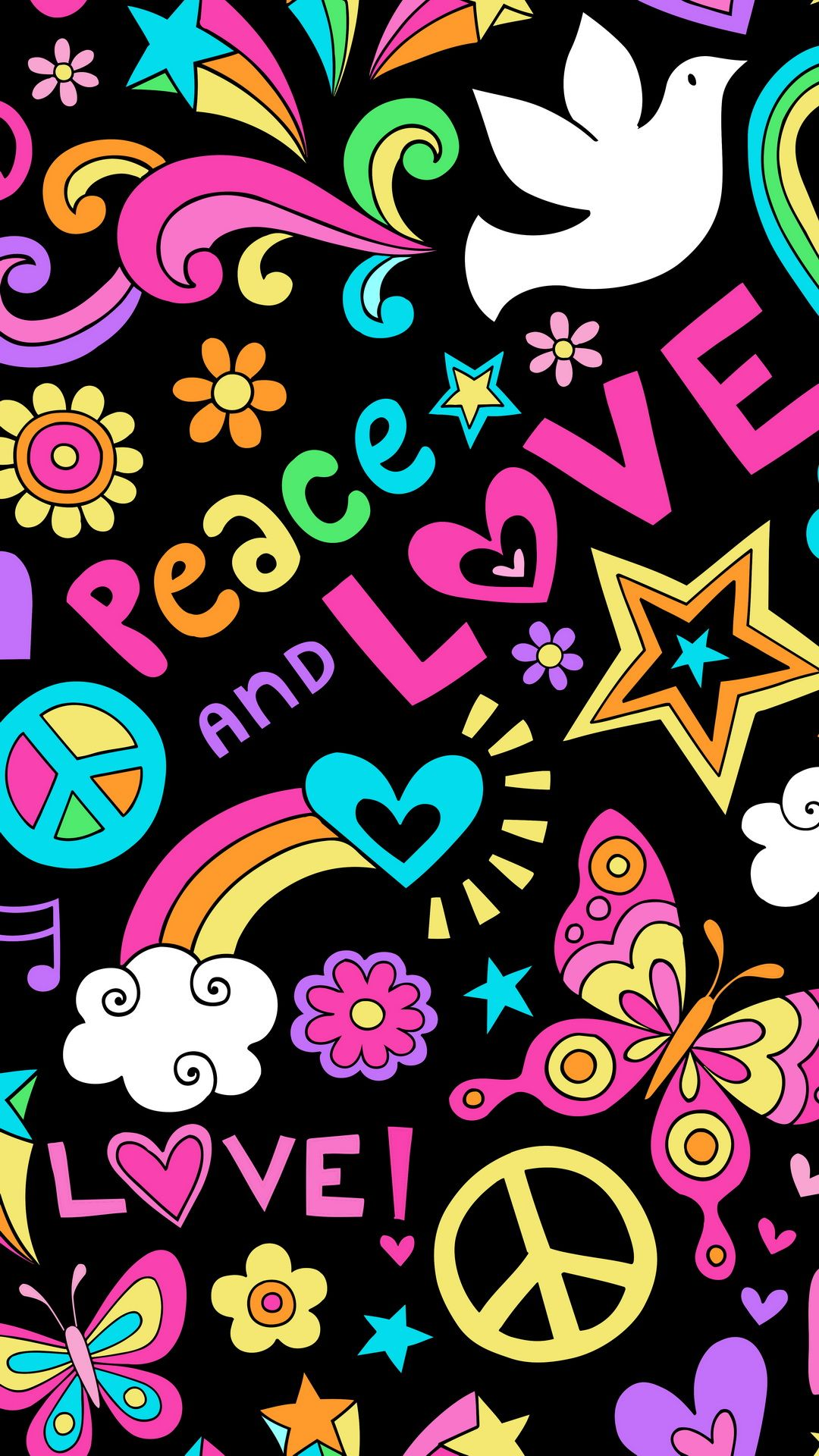 peace love wallpaper background Cute wallpapers