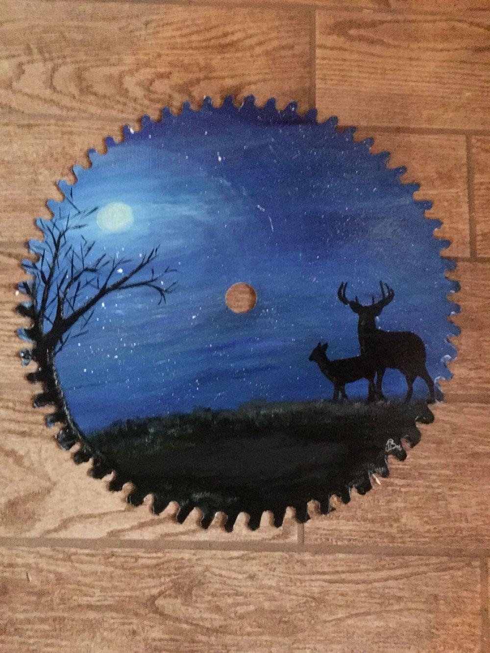 Painted Saw Blade Painting Crafts Circular Saw Circular Saw Blades