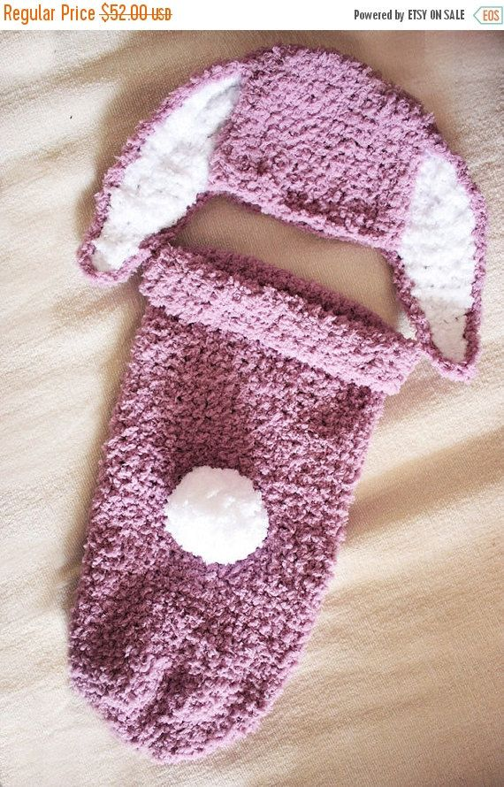 0 to 3m Baby Cocoon Set Baby Bunny Hat Newborn Cocoon Set Baby ...