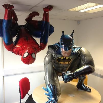 Life-size superheroes - can't believe they're actually balloons ...