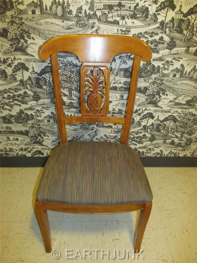 Ethan Allen Pineapple Dining Room Chair Legacy Russet Maple 13