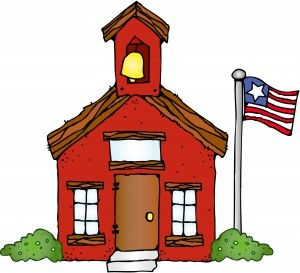 Image result for SCHOOL HOUSE CLIP ART""