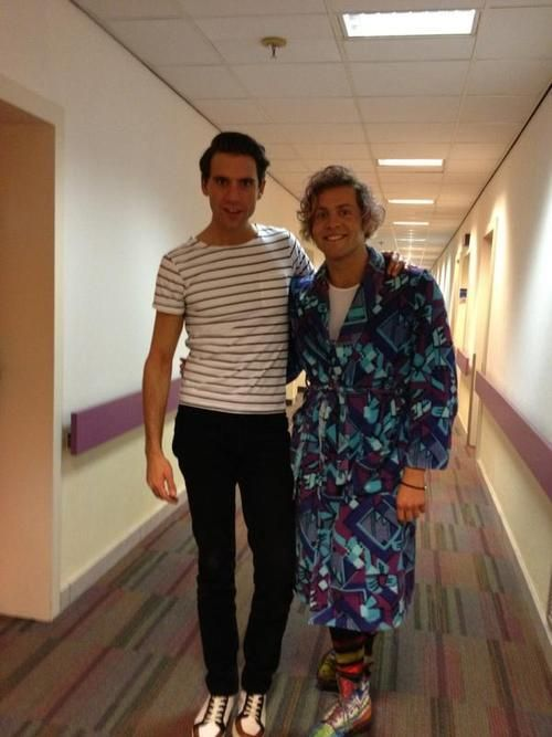 Mika and Paul Turner (former contestant on The Voice Of Holland)