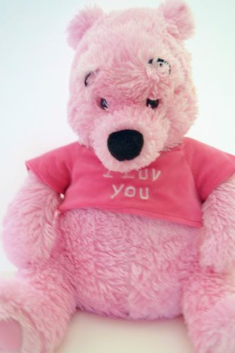 Large Winnie Pooh Plush Valentines Day I Luv You from Disney Store ... a96c23ea1