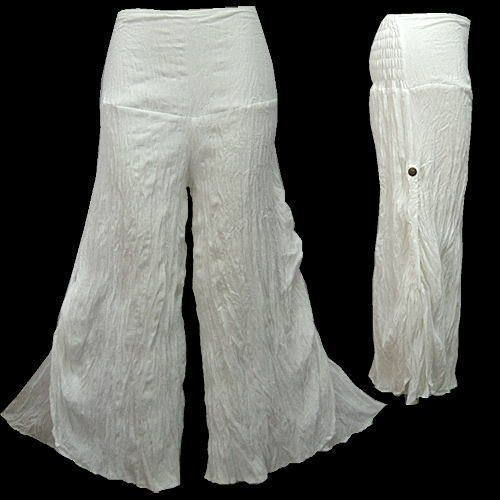 BOHO HIPPIE 2-LAYER TIE SIDE WIDE-LEG LONG PANTS - B565