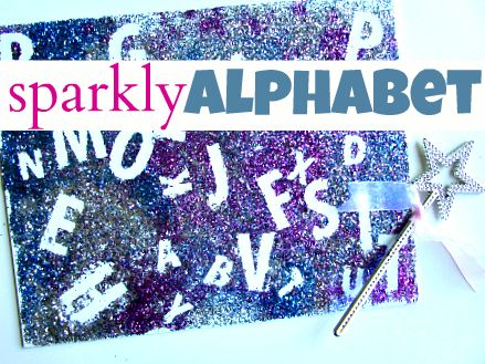 Sparkly Alphabet - a must for every child who loves fairies, princesses or anything sparkly!