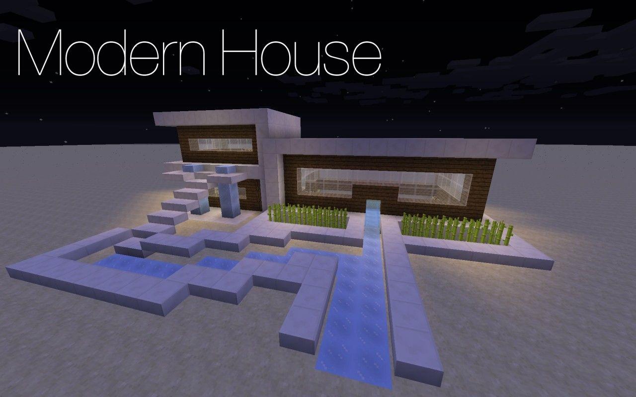 Case Moderne Minecraft : Modern house minecraft project modern home design