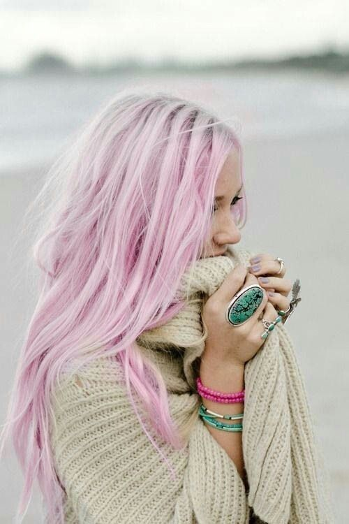 Hair We Heart It I Want My Hair To Do This Rosa Haare Bunte