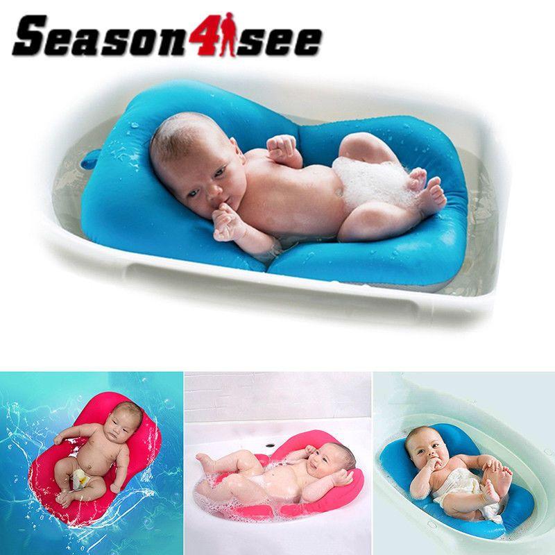 Foldable Non-Slip Baby Bathing Mat Pad Bath Chair Newborn Baby Bath ...