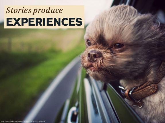 Razones a favor del Storytelling en marketing de contenidos · #1 Las historias producen experiencias