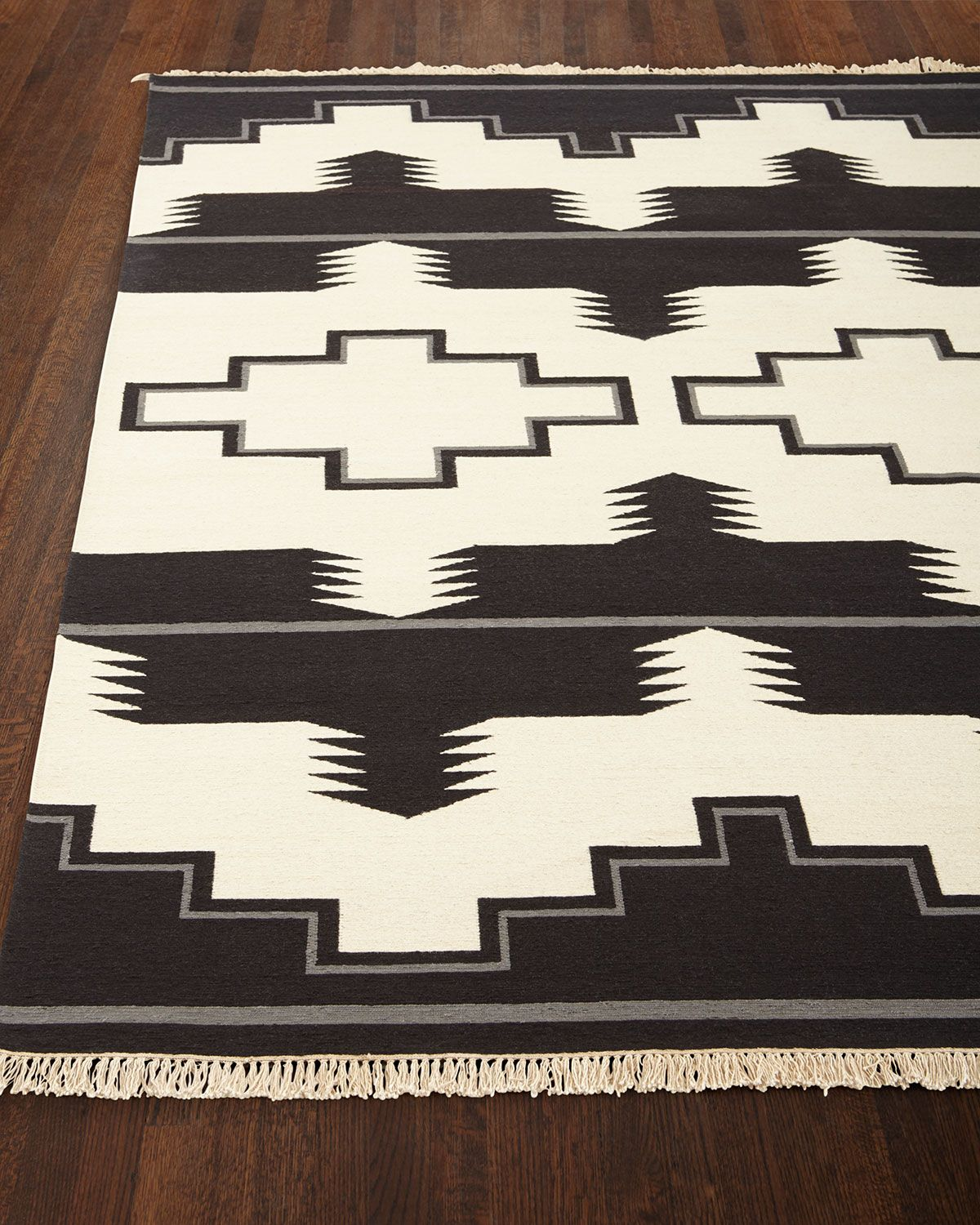 Plains Creek Rug 8 X 10 Classic Cool Black Amp White