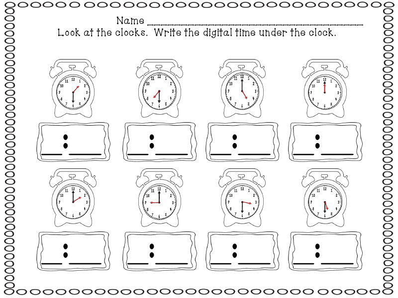 First Grade Funtastic: Time | math ideas | Pinterest | Math ...