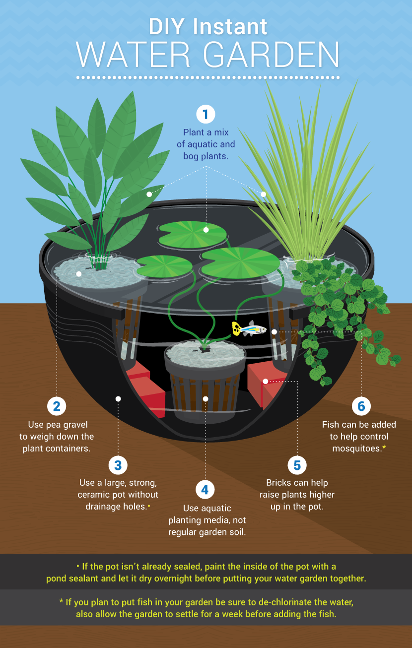 Water features for small gardens how to add beauty for Diy garden pond ideas