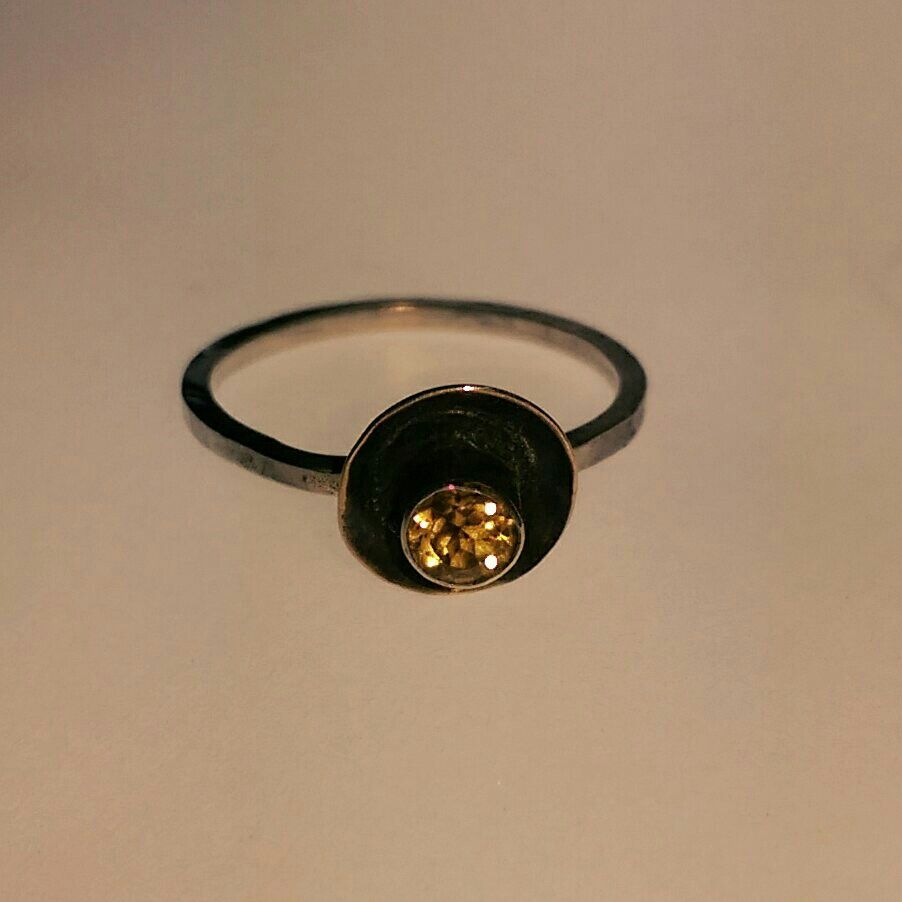A little citrine ring.