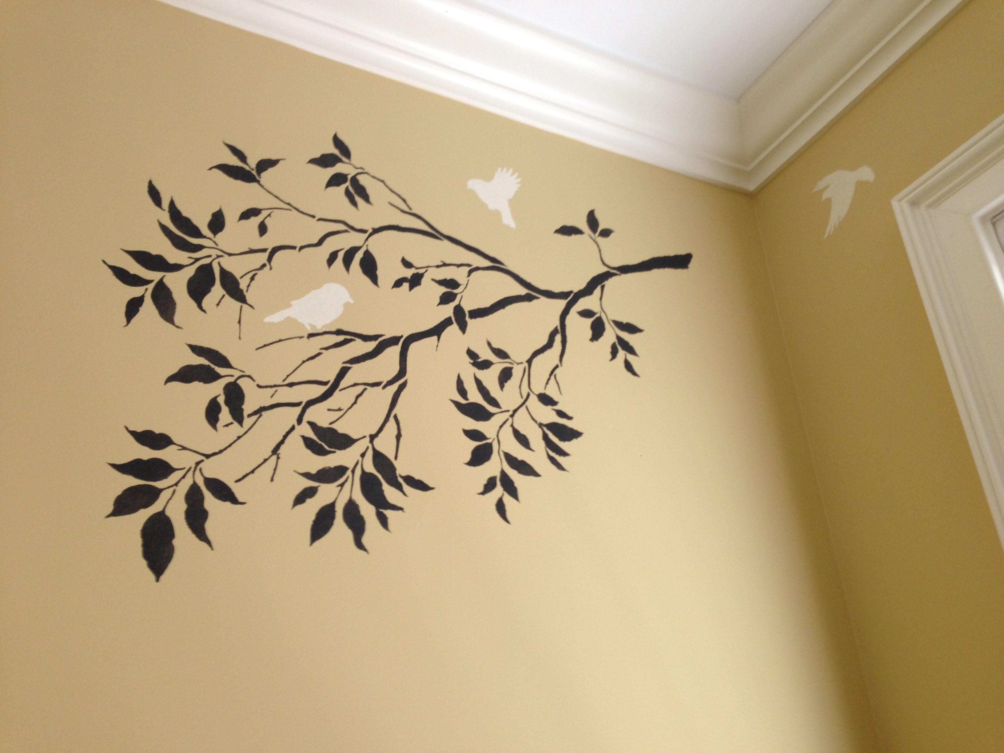 Stencil with Chalk Paint® on wall. | Chalk Paint® decorative paint ...