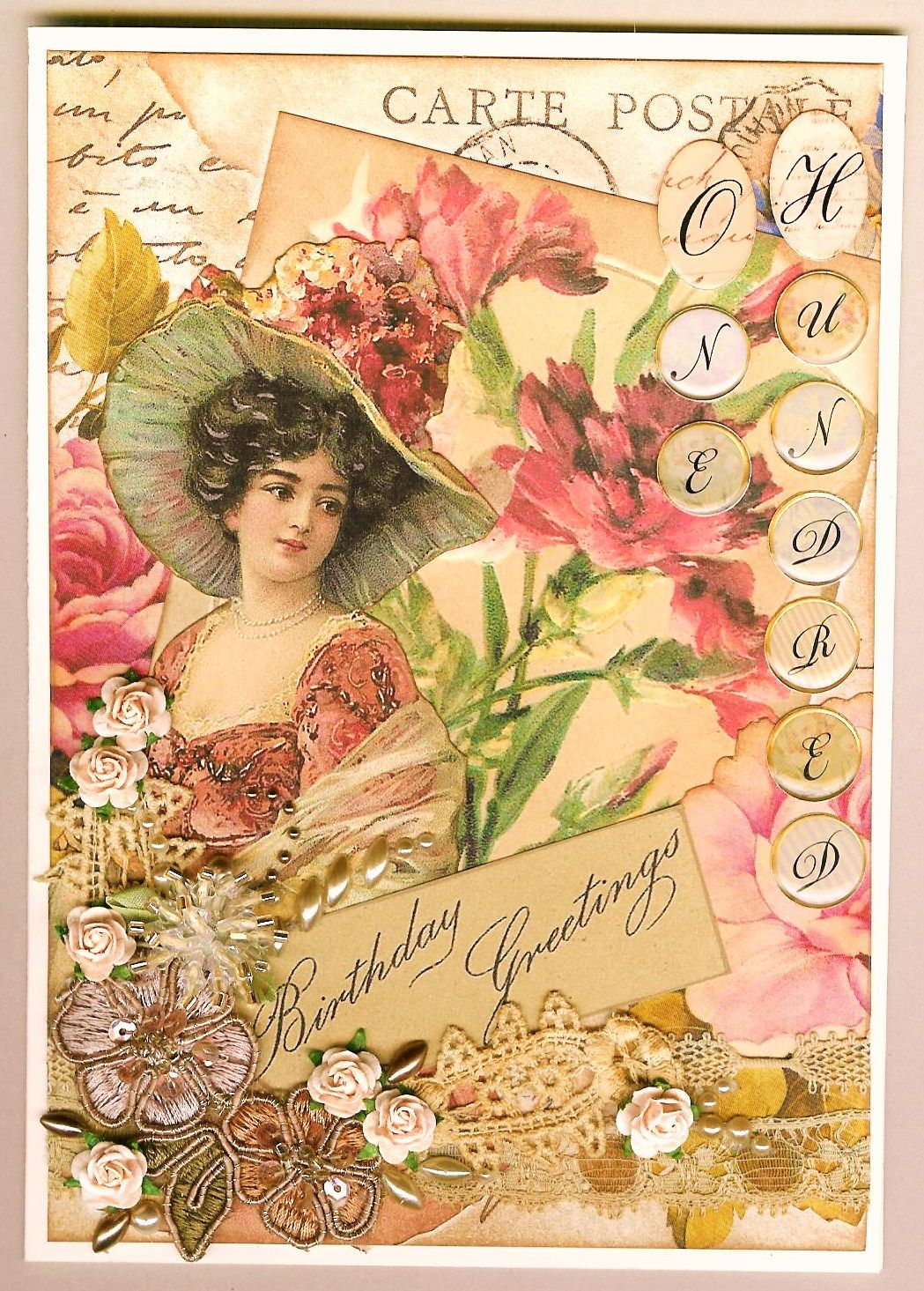 vintage happy birthday card Google Search – Victorian Birthday Cards
