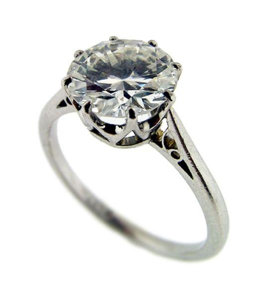 Art Deco Diamond Ring #wedding #jewellery  joyas #complementos boda