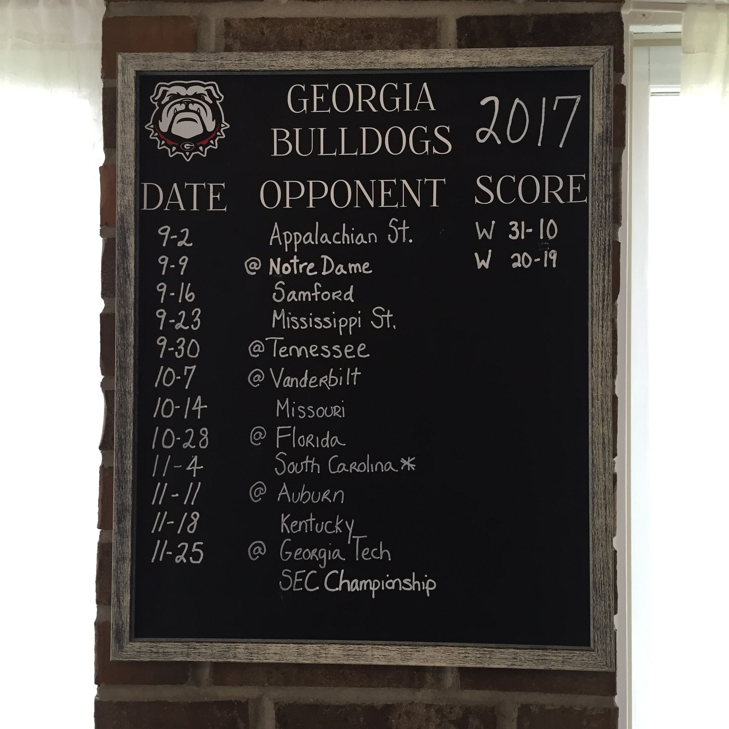 College Football Scoreboard. University of diy
