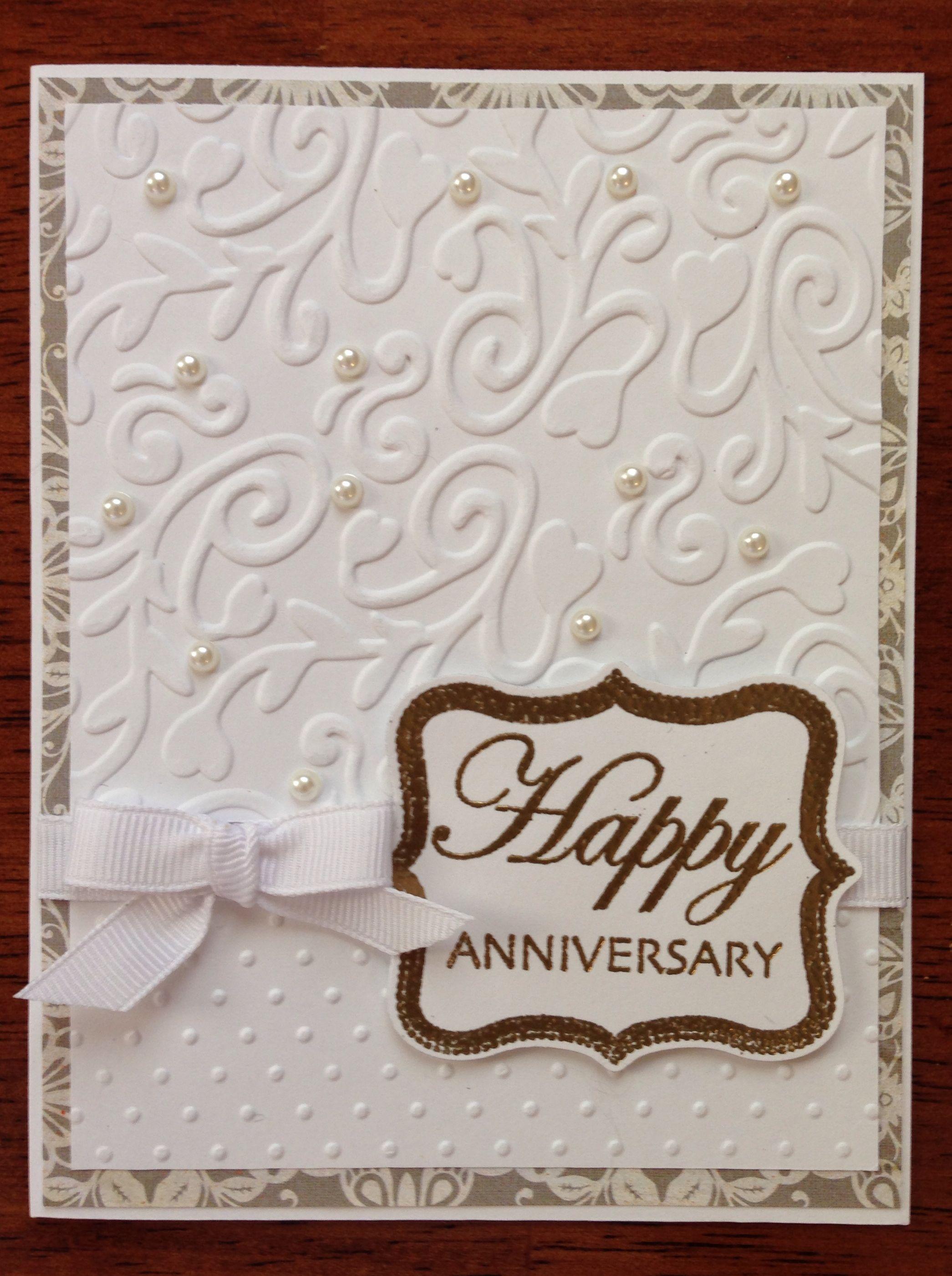 anniversary card Anniversary cards handmade, Homemade