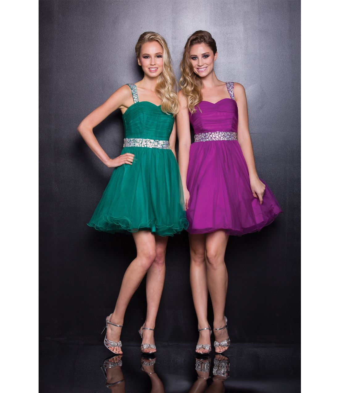 Homecoming dresses green tulle short prom dress unique vintage