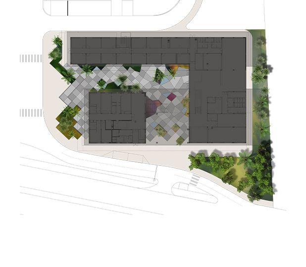 Jardim/ Enquadramento paisagístico do Edifício Total - Angola Project by JBJC - AP