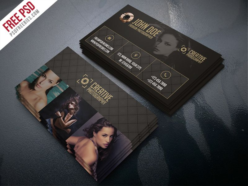 Fashion Photographer Business Card Template Free Psd Psdfreebies Com Photography Business Cards Template Business Card Template Photoshop Photographer Business Card Template