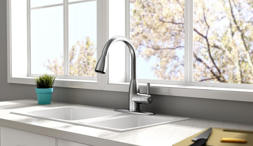 Fairbury Single Handle Pull Down Sprayer Kitchen Faucet Stainless Steel Stainless Kitchen Faucet Kitchen Faucet Faucet