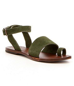 Free People Torrence Toe Ring Leather Sandals q7Njlmv