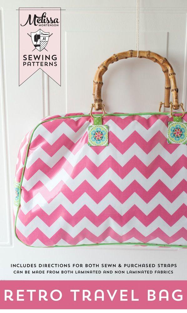 Image of Retro Travel Bag Sewing Pattern PDF | Bags | Pinterest