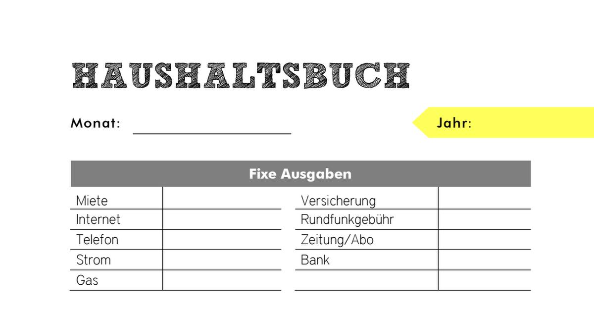 haushaltsbuch c pdf haushalt pinterest. Black Bedroom Furniture Sets. Home Design Ideas