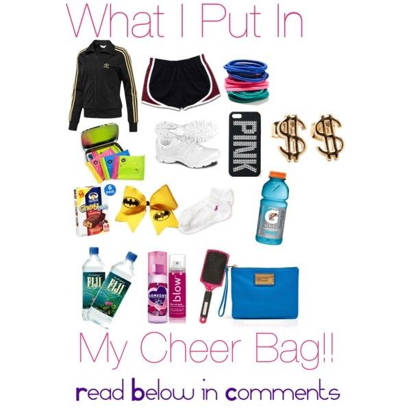 what s in my cheer bag polyvore s p o r t s