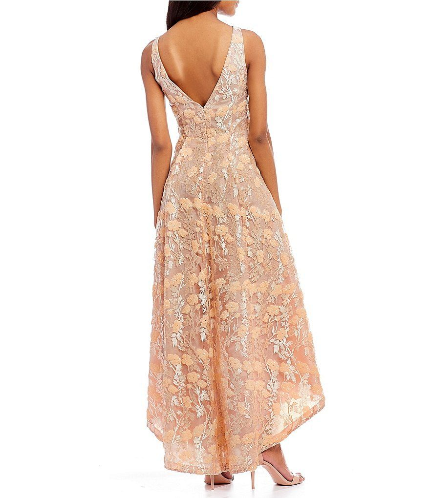 Calvin Klein Sequin Lace High Low Gown   High low, Sequins and Bride ...