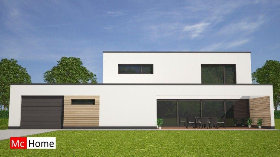 mc home moderne kubistische villa met garage terras en veel glas energieneutraal bouwen traditioneel of prefab depot balintawak