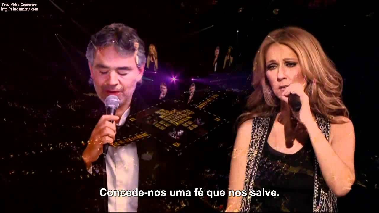Celine Dion Andrea Bocelli The Prayer Legendado Em Portugues
