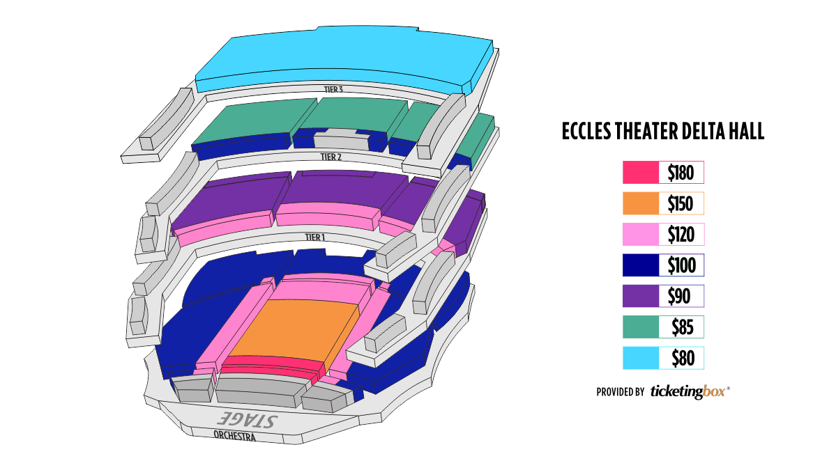 Salt Lake City George S And Dolores Dore Eccles Theater Seating Chart Seating Charts Theater Seating Chart
