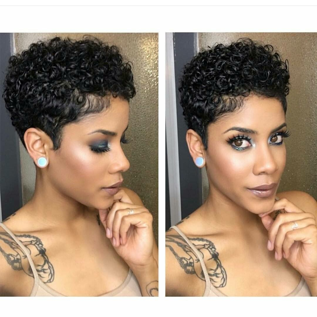 Pin by Obsessed Hair on Natural Pixies  Short natural curly hair