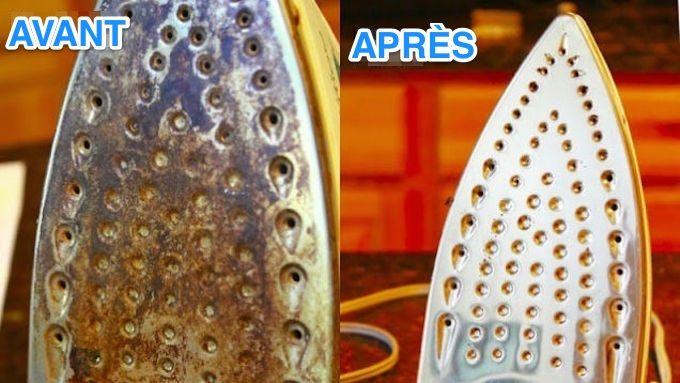 astuces efficaces pour nettoyer la semelle du fer à repasser.