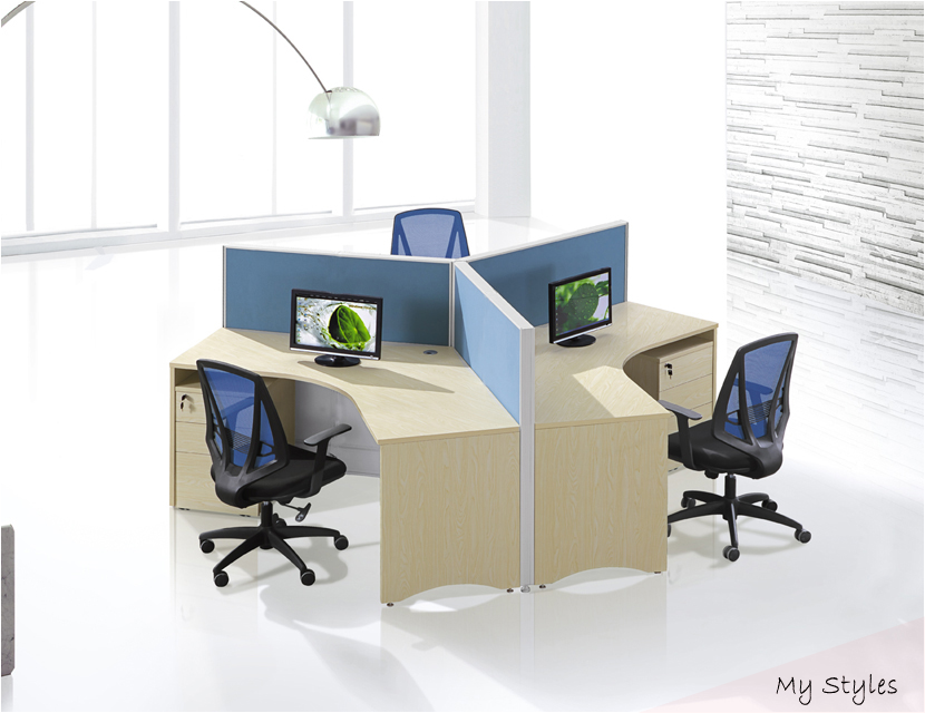 Ent Workstation Office Partitions Cubicles 3 Person Office Cubicle
