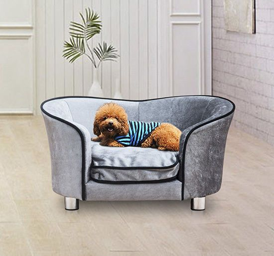 Pawhut Pet Sofa Bed Dog Cat Kitty Puppy Couch Soft Cushion Chair Seat Lounger Dog Sofa Bed Pet Sofa Bed Pet Sofa
